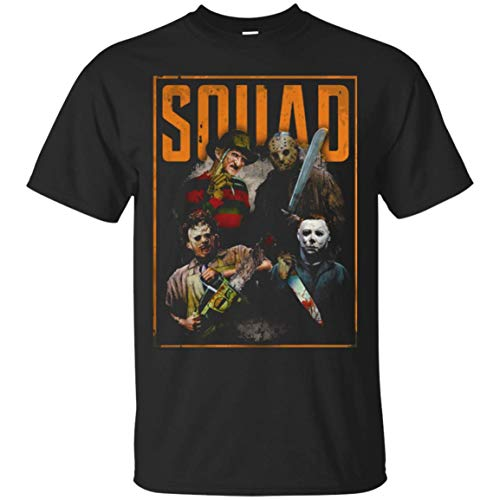Freddy Jason Michael Myers and Leatherface Squad T Shirt - Tula Store_S_4XL -