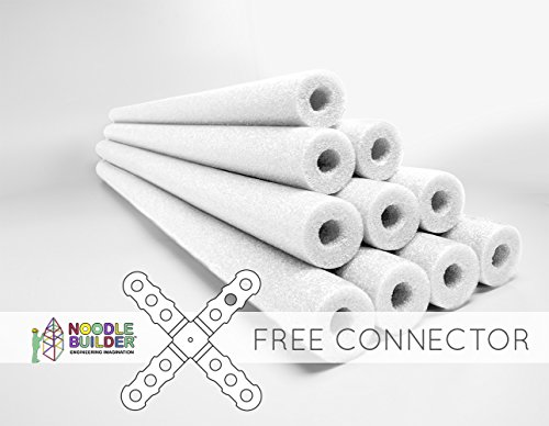 Oodles of Noodles Deluxe Foam Pool Swim Noodles 10 PACK White 52 Inch Wholesale Pricing Bulk Pack and Free Connector for $<!--$33.99-->