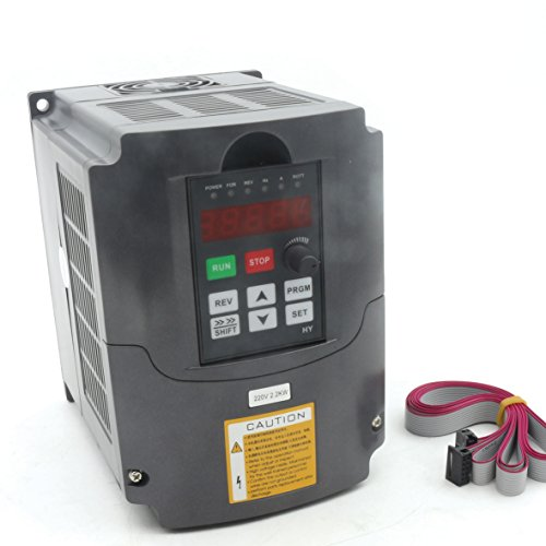 RATTMMOTOR CNC Spindle Motor Speed Control 220v 2.2kw VFD Variable Frequency Drive VFD Inverter 1HP or 3HP Input 3HP Frequency Inverter ()