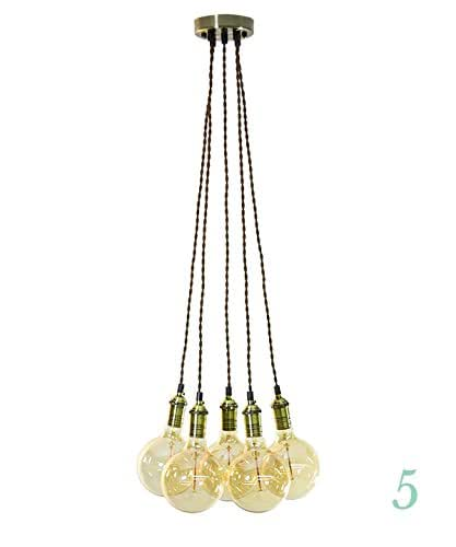 Pendant chandelier 5 clustered pendant - Make your own light fixture ...