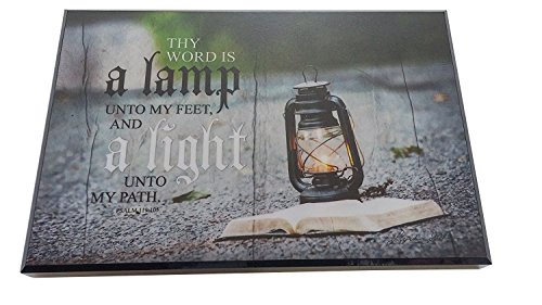 Assorted Inspirational Message Wooden Wall Plaque, 6″ x 9″ (Thy Word Lamp Psalm 119:105)