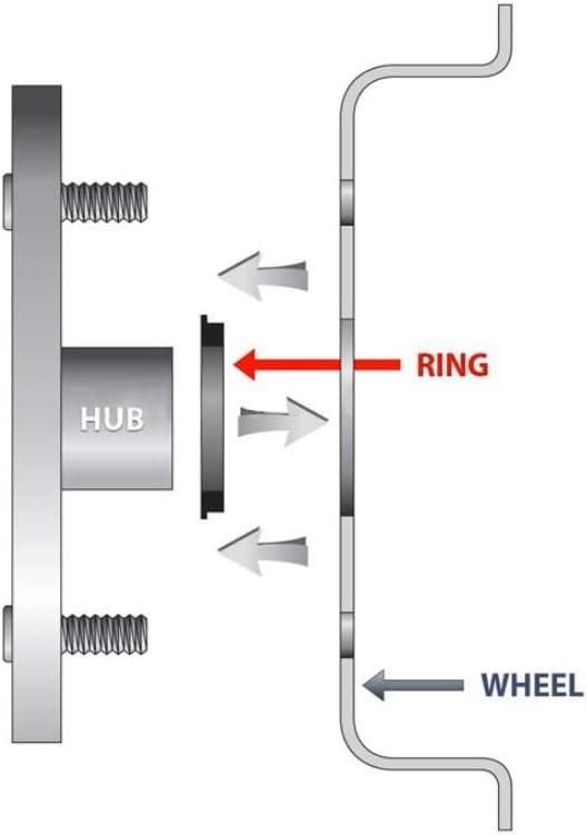 4pieces 73,1 auf 66,1 Hub Centric Ringe OD = 73.1mm ID = 66.1mm Aluminium Radnaben Ringe NO LOGO HWW-ZXH