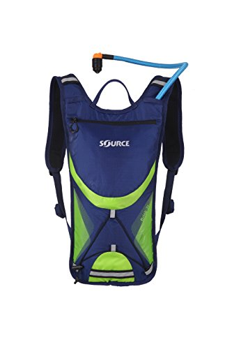 Source Outdoor Brisk Low Profile Hydration Backpack Pack with 2 Liter Taste Free Widepac Bladder - Outdoor Sports Gear for Hiking, Cycling, Running