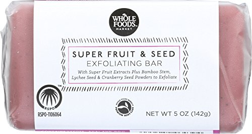 Whole Foods Market, Super Fruit & Seed Exfoliating Bar, 5 Ounce