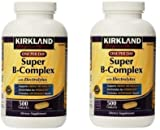 Kirkland Signature Super B-Complex (2-Pack) with Electrolytes (2 x 500 Tablets)