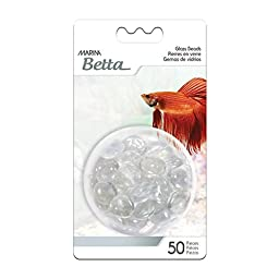 Non-Toxic, Clear Decorative Marbles, 50-Piece