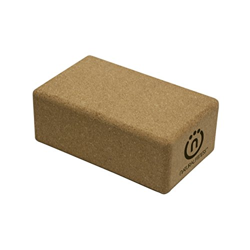 Natural Fitness Cork Yoga Block (5.5 x 9 x 3.5-Inch) by Natural Fitness