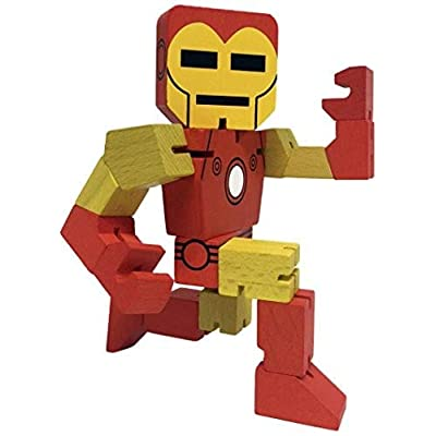 "PPWToys Iron Man Wood Warriors 8"" Action Figure: Ppw Usa: Toys & Games"