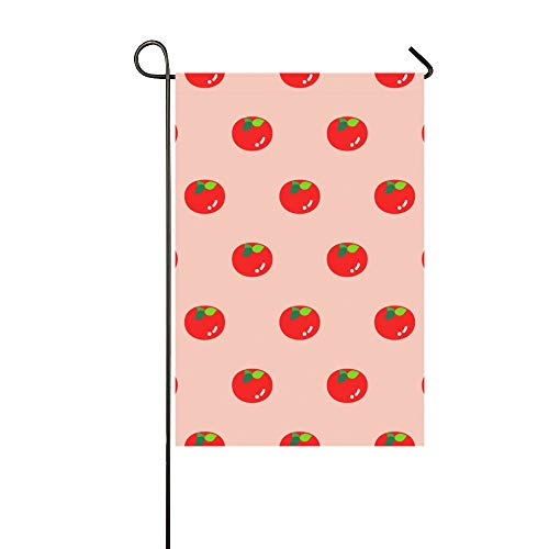 - YUMOING Home Decorative Outdoor Double Sided Cute Fashion Vegetables Tomatoes Garden Flag House Yard Flag Garden Yard Decorations Seasonal Welcome Outdoor Flag 12x18in Spring Summer Gift