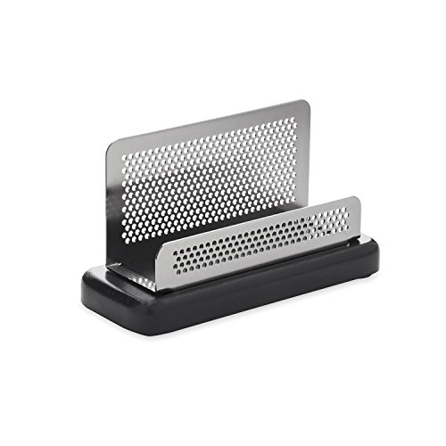 Gunmetal Metal Base Finish (Rolodex Distinctions Business Card Holder, Capacity 50 Cards of 2.25 x 4 Inches, Black (E23578))