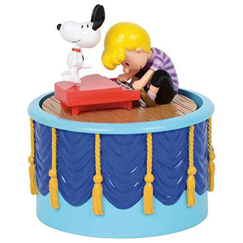 Department 56 Peanuts Village Accessories Snoopy Dancing Animated Musical Figurine, 3.71 Inch, Multicolor
