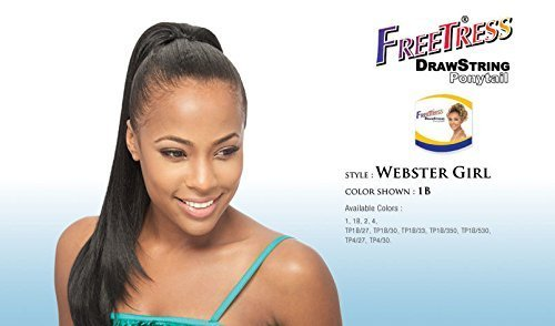 N Go FreeTress Drawstring Ponytail #1B/33 by Shake-N-Go ()