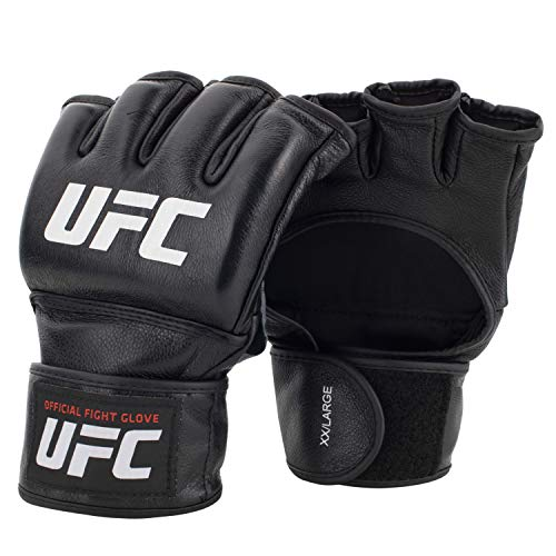 UFC Official PRO Competition Fight Gloves - Men's Med MMA Gloves, Black, Medium (Pro Fight Gloves)