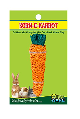(Ware Manufacturing Corn-E-Carrot Small Pet Chew Toy, Medium)
