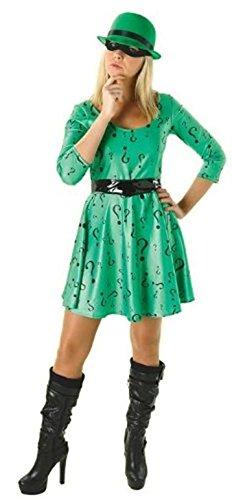 Dc Classic Female Riddler. Batman Movie Fancy Dress Costume]()