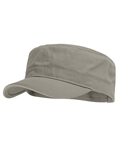 Cadet Baseball Cap Hat (NYFASHION101 Fashionable Solid Color Unisex Adjustable Strap Cadet Cap, Gray)