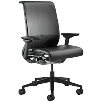 Steelcase Think Leather Chair, Black Open Box
