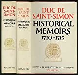 img - for Historical Memoirs of the Duc de Saint-Simon: A Shortened Version. Volume 1: 1691-1709; Volume 2: 1710-1715 book / textbook / text book