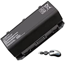Amsahr Replacement Battery for ASUS ROG G750, G750J, G750JH, G750JW, G750JX, A42-G750 - Includes Mini Optical Mouse