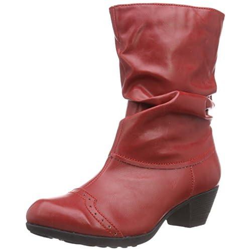 chollos oferta descuentos barato Andrea Conti 3009213 botas de caño bajo de material sintético mujer Rojo Rouge 021 41