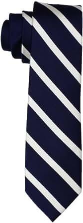 Tommy Hilfiger Men's Holiday Satin Stripe Tie, Navy, One Size