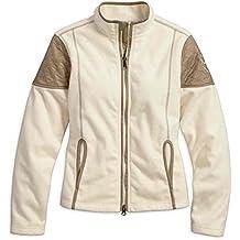 Harley-Davidson Women's Sundown Windproof Fleece Jacket, Off White 97589-17VW