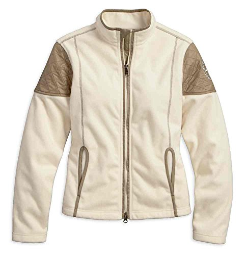 Harley-Davidson Women's Sundown Windproof Fleece Jacket, White 97589-17VW (S)