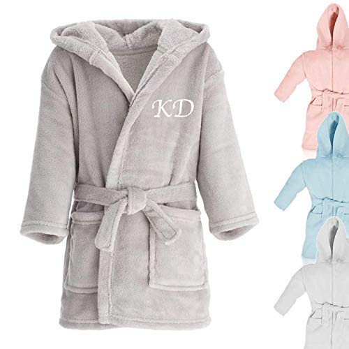 Personalised Initial Childrens Dressing Gown Nightwear Baby Gifts Christmas