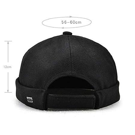 20eccdd18d Amazon.com : SENREAL Hat Men Solid French Brimless Hat Flanging ...