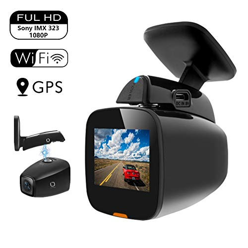 Matego Dash Cam 1080P WiFi Dash Camera for Car Dashboard Camera Mini Front Driving Recorder with GPS, WDR, G-Sensor, Night Vision, Parking Monitor, Loop Recording and Motion Detection 150°Wide Angle Matego