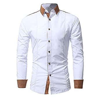 Amazon.com: OrchidAmor - Camisa de manga larga para hombre ...