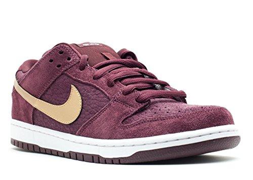 Nike Dunk Low Pro SB UK Passport Deep Burgundy Gold Zoom Air Shoes 304292-600 [US Size 9]