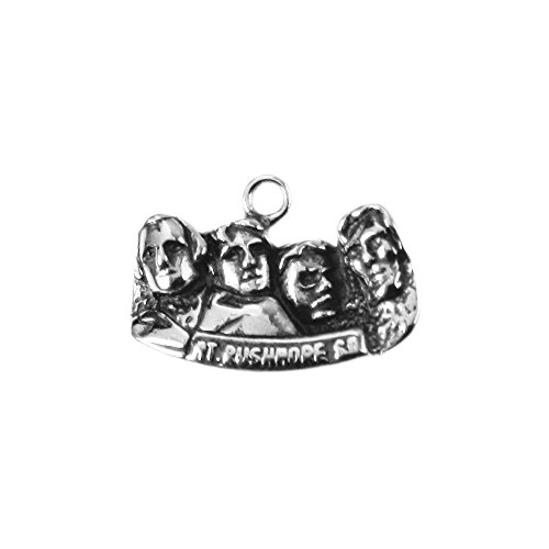 (Sterling Silver One-Sided Mount Rushmore Charm Item #3547)