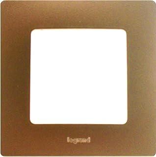 Legrand LEG96708 Niloé - Marco embellecedor para enchufes (1 orificio), color marrón