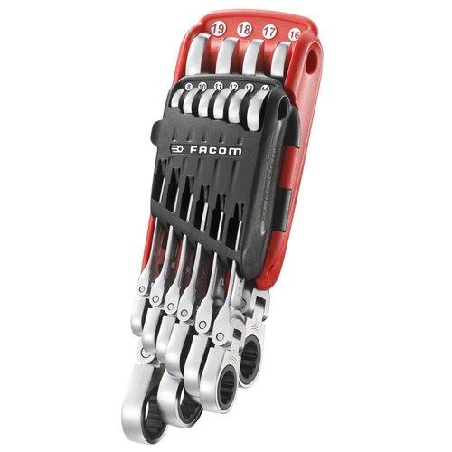 Facom FCM467FJP10 467F.JP10PB Metric Flex Ratcheting Spanner Set (10 (Facom Combination Wrench)
