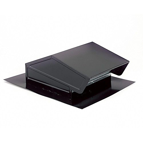 Cap Wall Aluminum (Broan-NuTone 634M Roof Cap Black Up to 6
