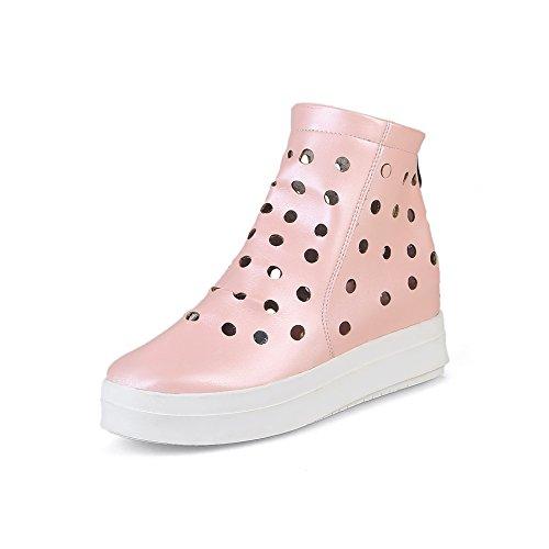 LSM-Talons MEI&S Femmes Casual Chaussures Augmenter à Tête Ronde Pink dwiRvq