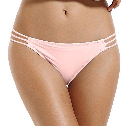 834abceb27cb Reteron Women's Fashion Strappy String Bikini Bottom Pack of 2 XL Euphoria  Pink Red