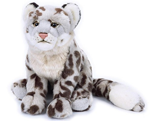 National Geographic 770817 Plush Snow Leopard, Grey (Habitat Snow Leopard)