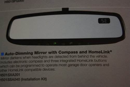 Subaru H501SXA201 Auto-Dimming Mirror and Compass with HomeLink by Subaru
