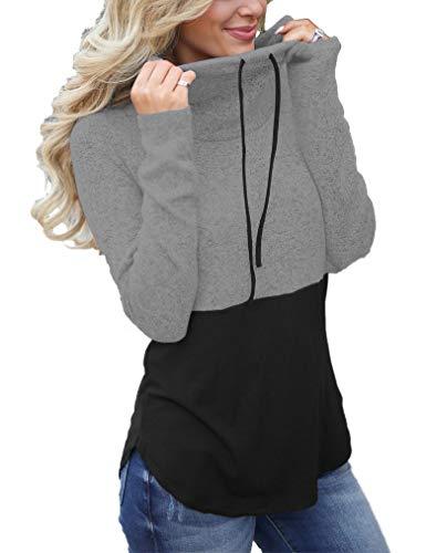 cowl neck hoodie woman - 6