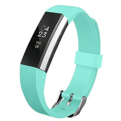UMTELE MTELE Compatible with Fitbit Alta Bands, Soft Wristband with Metal Buckle Clasp Closure Replacement for Fitbit Alta/Alta HR/Fitbit Ace …