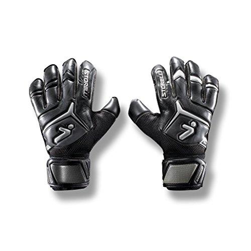 Storelli Gladiator Elite 2 Goalkeeper Gloves |High Perfomance Soccer  Goalkeeper  Gloves |UV Resistant|Sweat-Wicking|Black ()