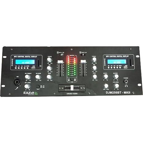 Ibiza DJM250BT-MKII - Mesa de mezclas para DJ: Amazon.es ...