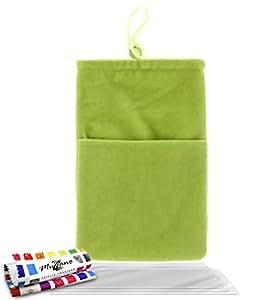 """Funda  SAMSUNG I9500 / GALAXY S4 [""""Cocoon""""] [Verde] de MUZZANO + 3 Pelliculas de Pantalla """"UltraClear"""" + ESTILETE y PAÑO MUZZANO REGALADOS - La Protección Antigolpes ULTIMA, ELEGANTE Y DURADERA para su SAMSUNG I9500 / GALAXY S4"""