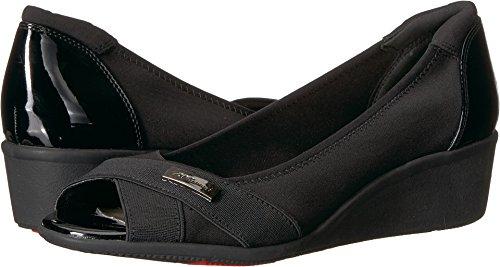 Womens Flat Klein Shoes (Anne Klein AK Sport Women's Jetta Black Fabric Ballet Flat, Black/Multi Fabric, 9 M US)