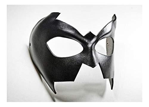 Nightwing Black Leather Mask Batman Superhero Batgirl Halloween Costume Unisex