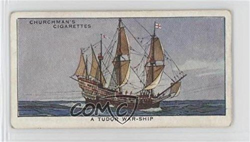 (A Tudor War-Ship Ungraded COMC Good to VG-EX (Trading Card) 1937 Churchman's The Story of Navigation - Tobacco [Base] #19)