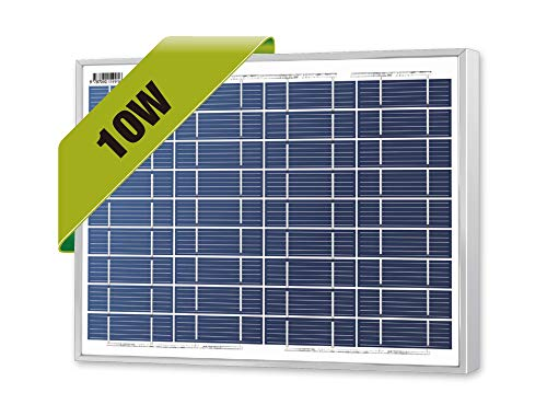 Newpowa 10 Watts 12 Volts Polycrystalline Solar Panel 10W 12V High Efficiency Module RV Marine Boat Off Grid