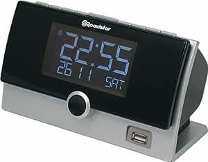 Roadstar CLR-2630U/SL - Radio FM (doble alarma, USB, MP3, reloj) color plateado